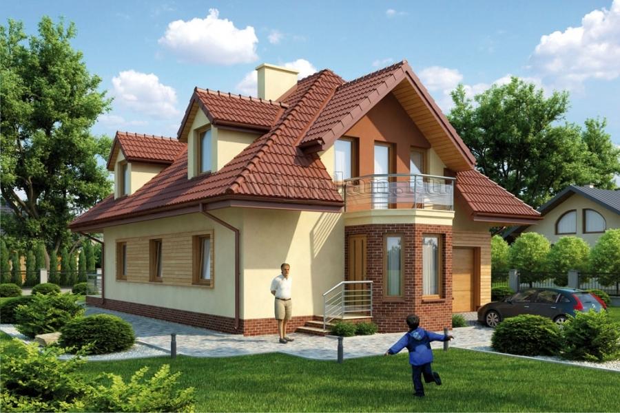 Одноэтажный дом 6 на 6, проект одноэтажного дома 6х6 для